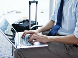 Ordenador portátil y posición espalda