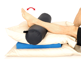 Rehabilitación domiciliaria tras prótesis de rodilla.